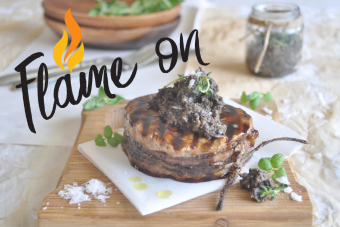 Barbecued Mushroom Duxelles with Beef Fillet