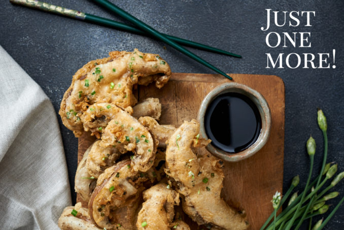 Mushroom Tempura with Maple-Soy Dipping Sauce